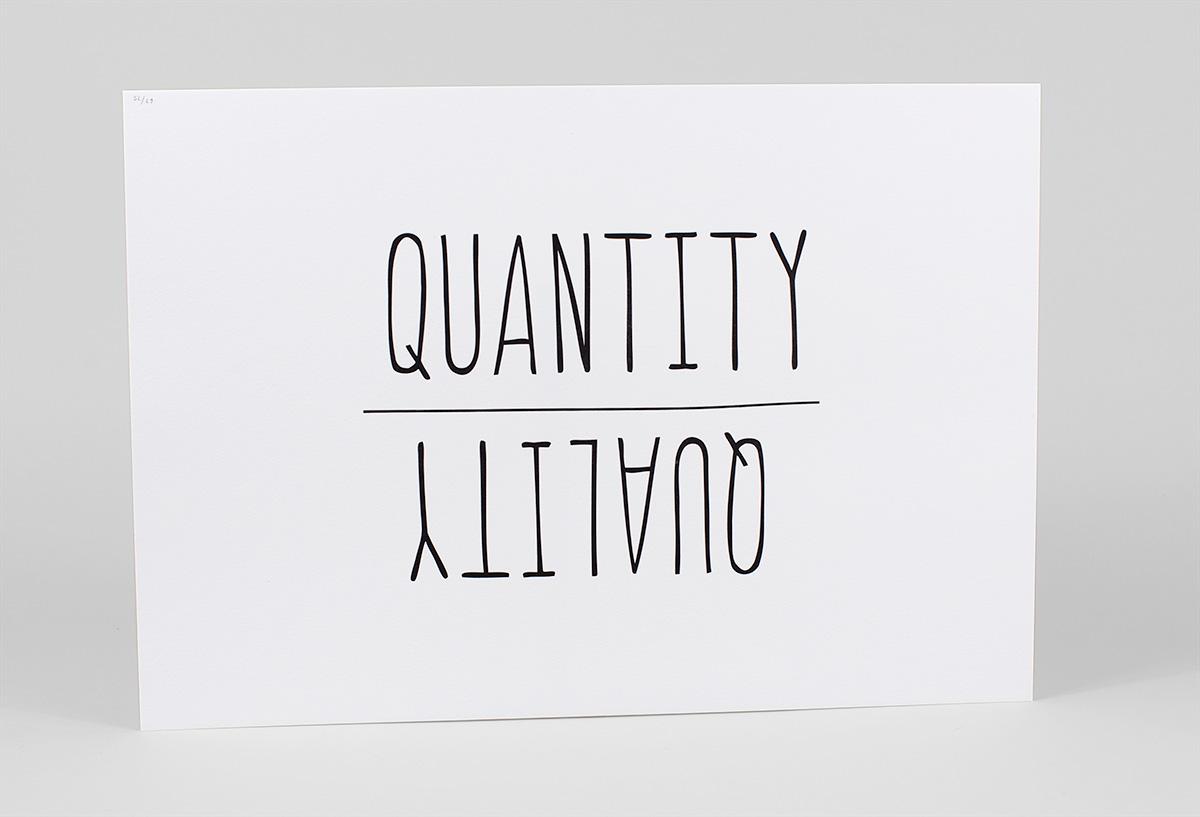 quantity or quality
